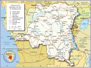 Kongo Karte